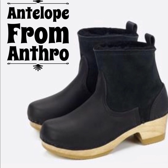 5b31b087fa93 Anthropologie Shoes - Antelope for Anthropologie black suede ankle boots